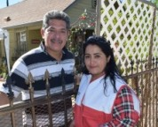 Pasadena resident Carmen Cortez, pictured with her husband, is helping promote fire safety in her neighborhood.