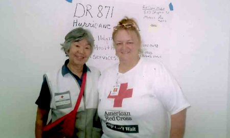 cheri larson and other volunteer, katrina