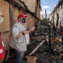 Disaster volunteer rises from apartment fire ashes
